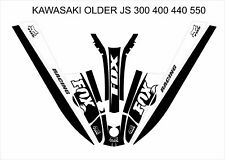 kawasaki 550 440 400 js sx jet ski wrap graphics pwc stand up jetski decal black