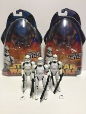 Lot Of 3 Star Wars Revenge Of The Sith Quick Draw Clone Trooper Action Figures