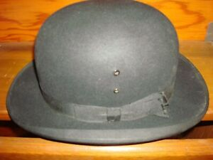 RARE~ANTIQUE~EARLY ~ STETSON ~SELECT~MASONS INSIGNIA~ DERBY