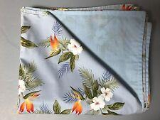 Hawaiian Blanket Picnic Twin Lap Blue hibiscus bird paradise fern Handmade