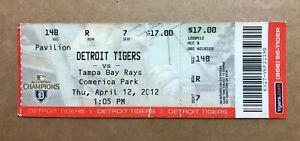 Drew Smyly MLB Debut First Game April 12 2012 4/12/12 Tigers Rays Full Ticket