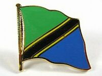 Tansania Flaggen Pin Anstecker,1,5 cm,Tanzania,Neu mit Druckverschluss