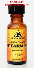 Spearmint Essential Oil Aromatherapy Natural 100% Pure Glass Bott 0.5 Oz, 15 ml