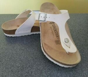 Birkenstock Gizeh Thong Sandals Women's Size US 5  EU 36 Reg Fit White