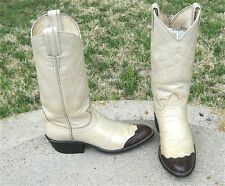 TONY LAMA  EXOTIC  LIZARD WING TIP  COWGIRL BOOTS  LADIES   6.5'M