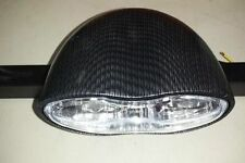 CHOPPER OR CUSTOM MOTORCYCLE HEADLIGHT CARBON FIBER WRAPPED ET RIDER