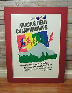 Vintage 1993 Mobil Outdoor USA Track & Field Championships Print  Eugene, Oregon
