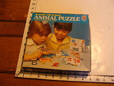 VINTAGE WOODEN ESTRELA PRE-SCHOOL ANIMAL PUZZLE made in Brazil