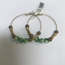 """ALEX AND ANI """"SUNBURST LIME"""" HOOP EARRINGS IN RUSSIAN GOLD! NWT! RARE! RETIRED"""