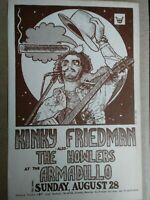 """1980 GUY JUKE /""""Dogs at Play/"""" ARMADILLO WORLD HEADQUARTERS Concert Poster"""