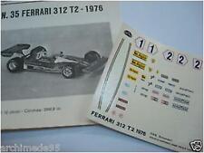 FERRARI 312 T2 GP SPAGNA 76 LAUDA N.1-2 DECALS 1/43