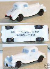 RARE CHARM 2014 DELAGE D8S DEVILLARS CABRIOLET 1933 BLANCHE FEVE PORCELAINE 3D