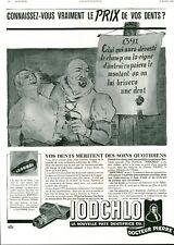 Publicité ancienne dentifrice Iodchlo 1940 issue de magazine