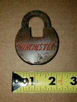 VintageAntique Winchester Repeating Arms Rifle Locks Padlocks Brass Red Letters