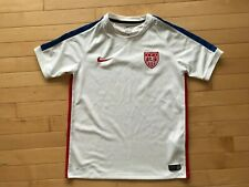 Usa Nike Dri-Fit Team Soccer Jersey World Cup Sewn Fifa United States Youth Sz L