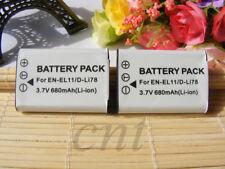 TWO (2) Battery  FOR  SANYO EN-EL11,LI-60B,D-LI78,DB-80,DB-L70