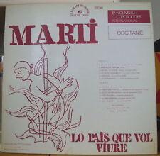 MARTI  LO PAIS QUE VOL VIURE FRENCH LP LE CHANT DU MONDE 1973