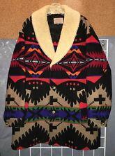 """Vtg BRIGHT! Pendleton High Grade Western Wear Indian Blanket Coat 44"""""""
