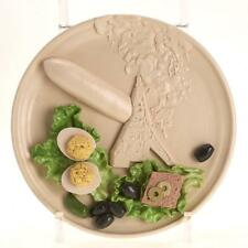 C. TURNER TROMPE L'OEIL ART POTTERY DISH HINDENBERG DISASTER, HORS D'OEUVRES