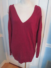 moda international open shoulder burgundy sweater m            #116