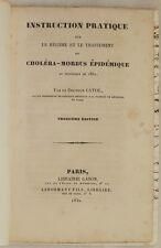 CAYOL INSTRUCTION PRATIQUE REGIME CHOLERA MORBUS COLERA EPIDEMIA 1832 PARIGI
