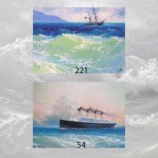 LOT #8 of 2 ACEO PRINTS MARINE ART SEASCAPE Ocean SHIP Storm Coastal Surf Wave