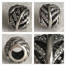 PANDORA CLEAR FEATHER CHARM REF 791186CZ RRP £50.00 S925 ALE DISCONTINUED