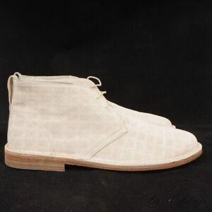 #1 MENSWEAR NIB Bottega Veneta Italy Cream Suede Butterfly Desert Boots 43.5 NR