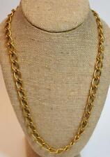 """New Old Stock ANNE KLEIN Goldtone Polished 24"""" Chain Square Lion HEAD Logo"""