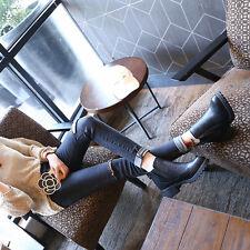NUOVO moda donna autunno inverno Stivaletti da tacco alto stivali con lacci