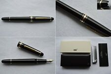 Montblanc Meisterstuck Classique 145 Gold Line Fountain Pen 14K M / Medium Nib