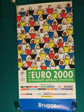 UEFA Euro Cup 2000 Brugge Belgium poster football European soccer Netherlands