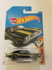 Hot Wheels 2017 '69 Dodge Charger 500 #285/365 Black Long Card Mooneyes