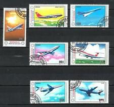 Avions Mongolie (17) série complète de 7 timbres oblitérés