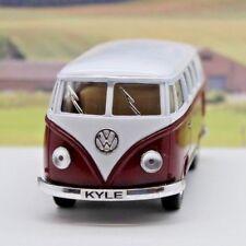 PERSONALISED PLATE Gift VW Camper Van Bus Boys Toy Car Model Birthday Present