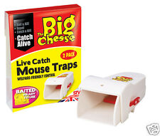 STV The Big Cheese Humane Live Catch listo para usar mouse traps Twinpack STV155