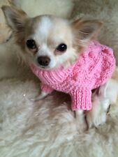 SMALL PET CABLE KNIT JUMPER IN PINK