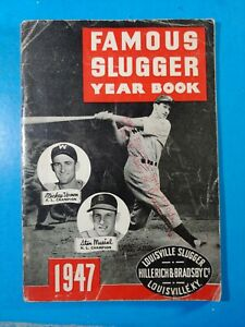 1947 FAMOUS SLUGGER YEARBOOK VG tape on spine