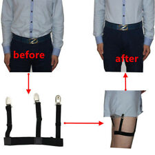 1 Pair Men's Shirt Stays Holders Elastic Garter Belt Suspender Locking Clamps