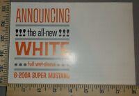 1962 White Truck Brochure Folder