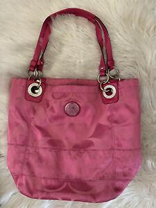 Coach Hobo Bucket Signature Bag - Hot Pink