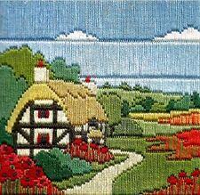 Derwentwater Designs Silken Long Stitch Kit - Poppy Cottage