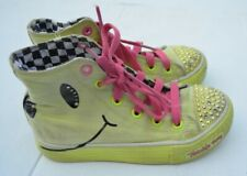 Sketchers Twinkle Toes Lime Green High-Top Lace-up Shoes Size 12.5