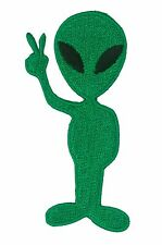 Patche écusson ALIEN thermocollant applique ecusson patch extra terrestre brodé