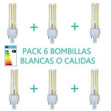 PACK 6 BOMBILLAS 11W LUZ BLANCA O CALIDA PLC BOMBILLA  LED OSSUN AHORRO ENERGIA
