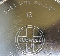 RARE #13 GRISWOLD SLANT LOGO ERIE PA #720 CAST IRON SKILLET