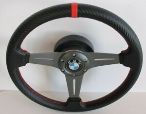 Steering Wheel Fits BMW Carbon Look Leather  E38 E39 E46 Z3 M3 Sport 1999-2003