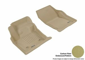 For 13-16 Ford Lincoln Fusion Mkz R1 Carbon Pattern Tan All Weather Floor Mat