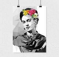Frida Kahlo, Albert Einstein,David Bowie,Marilyn Monroe,Low poly modern portrait