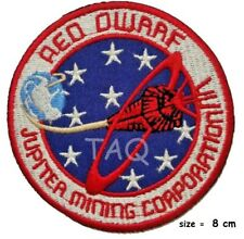 Red Dwarf Jupiter mining Corporation Badge Embroidery iron on patch